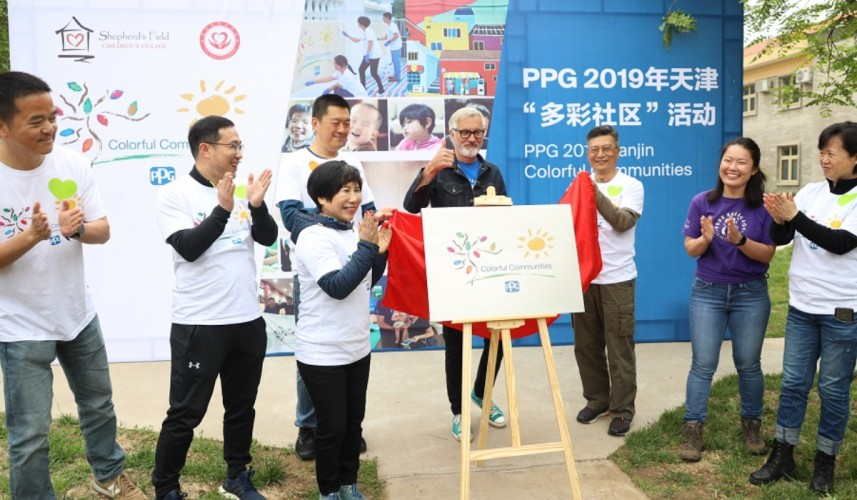 PPG completes COLORFUL COMMUNITIES project at Shepherd's Field Children's Village in Tianjin, China