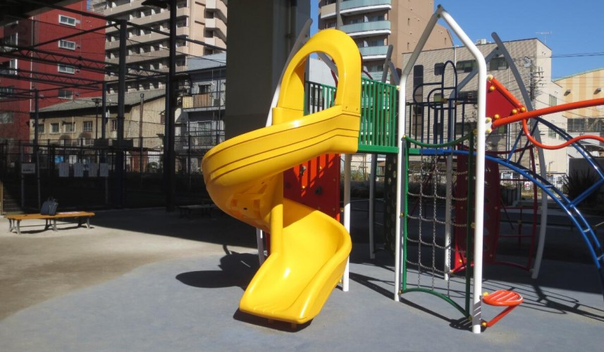 BASF's light stabilizer protects playground slides from UV light